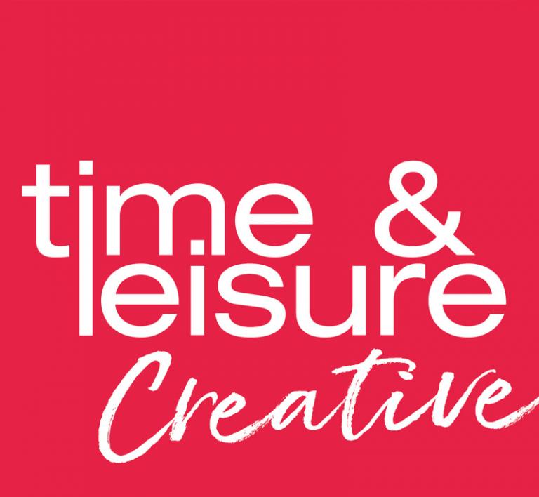 time & leisure creative logo